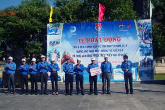 Phát động chiến dịch thanh niên tình nguyện hè năm 2014, hưởng ứng Ngày Môi trường thế giới 5-6 và triển khai cuộc vận động